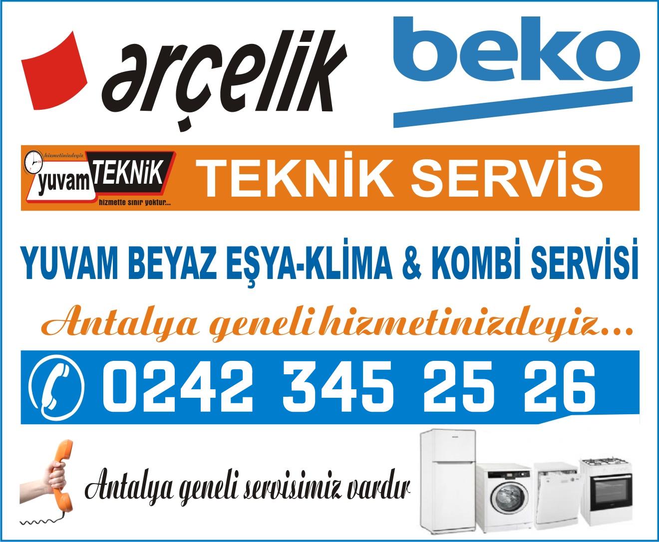 Antalya Arçelik Beko Servisleri